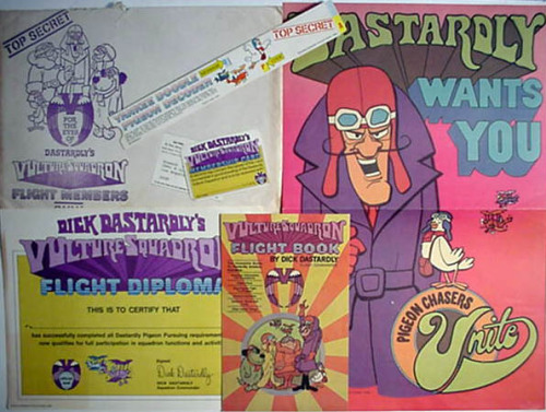 Dick Dastardly's Vulture Squadron Membership package (1970)