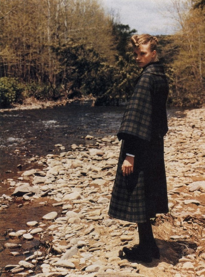 Vlada Roslyakova wearing Chloe, Miu Miu, and Yohji Yamamoto by Nick Haymes in i-D