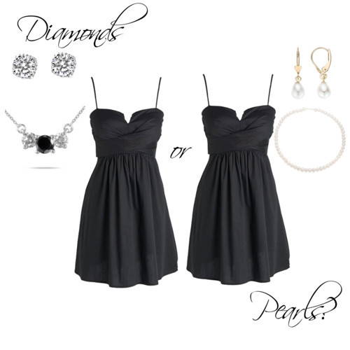 Diamonds or Pearls? by YourSororitySister featuring a twist dress