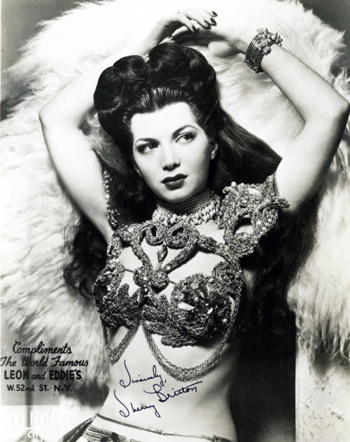 vintagegal:  Sherry Britton burlesque dancer 1940's