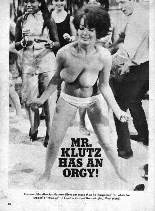 "mondotopless:  ""Mr. Klutz has an orgy!"""