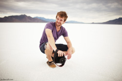 jordanvoth:  Trenton Davis // Bonneville Salt Flats Salt Lake City, UT