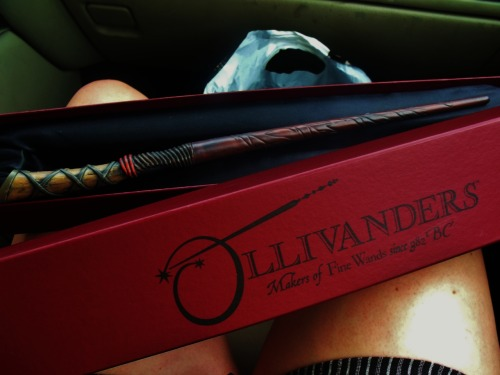 danbakitus:  My wand! :] It is an original Ollivander's design that is based on the Celtic calendar. There are 13 that correspond with the 13 Celtic months and this wand is one that represents November 2nd- my birthday!  OMG FUCKING WANT