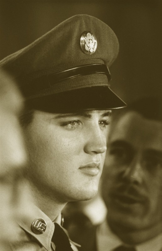 theniftyfifties:  Private Elvis Aaron Presley.