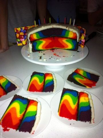 gay-men:  Anybody for a piece of rainbow cake?