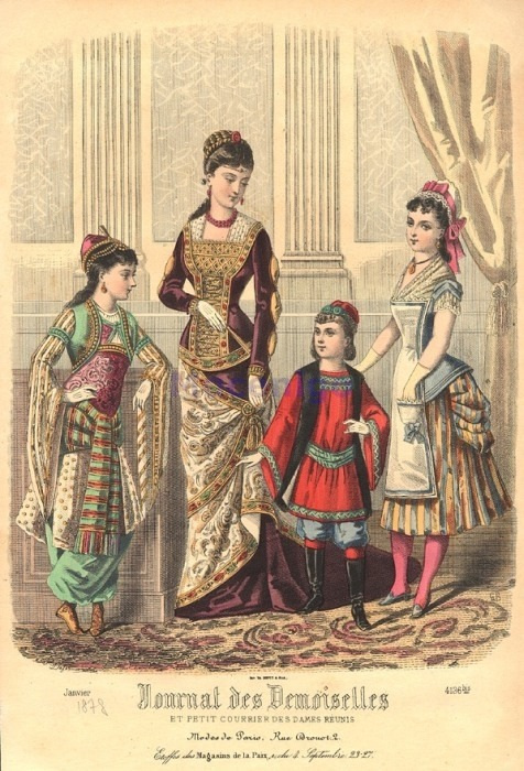 Fancy dress, 1878 France, Journal des Demoiselles