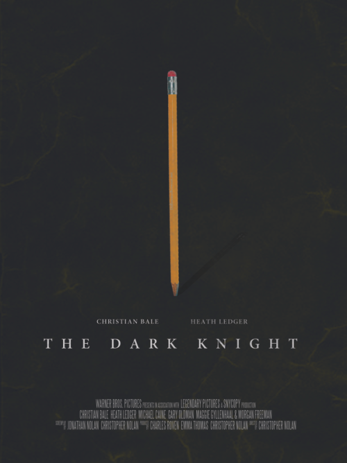 minimalmovieposters:  The Dark Knight by Vincent Gabriele