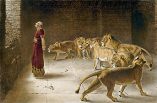 "Inspiration Board: A piece named ""Daniel"" painted by Briton Riviere in 1890. This is another one of the images on my inspiration board for my next creative shoot for the ""Death Of A Clown"" series: Collection 5 ""The Lion Tamer"""
