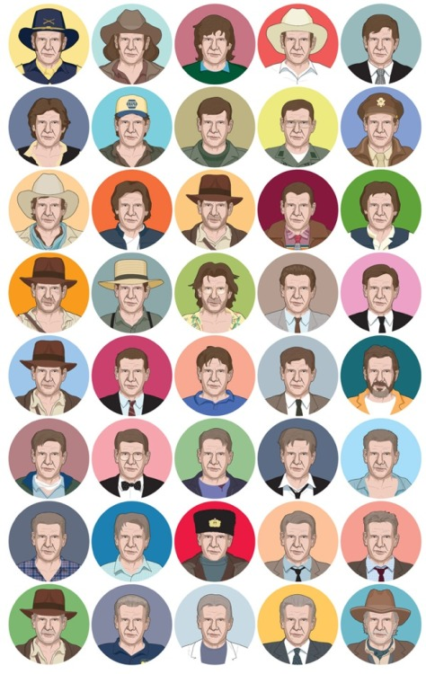 40 Faces of Harrison Ford.