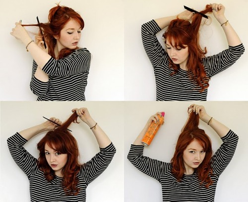 (via Fashezine: Six easy-peasy hairstyles)