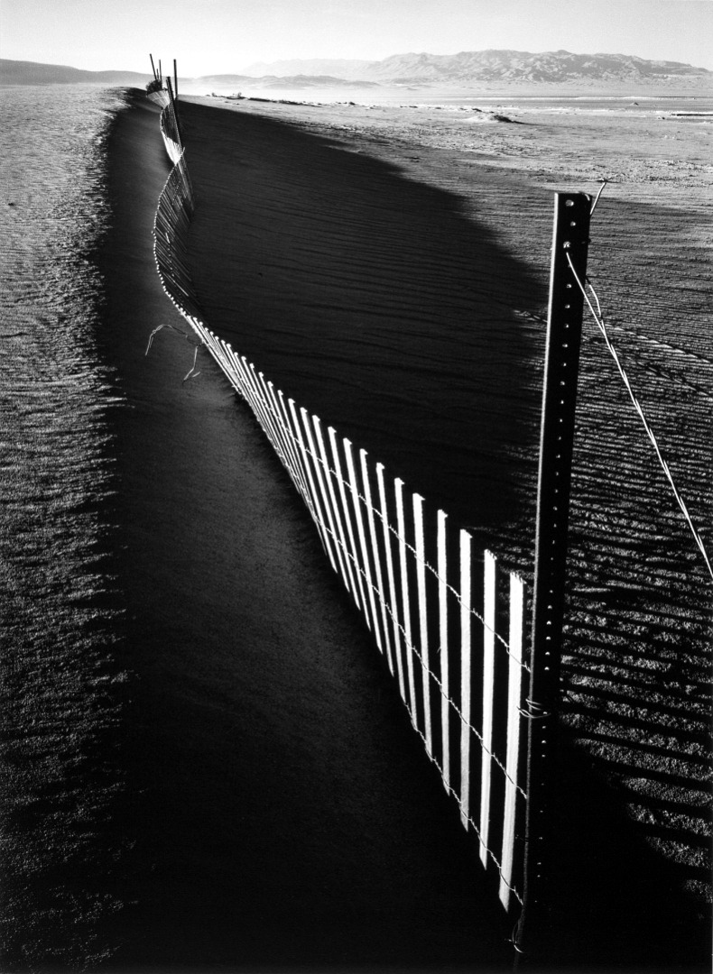 Ansel Adams, Sand Fence, Keeler, California, 1948 via: metmuseum. Thank you, melisaki.