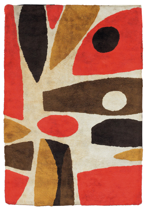 "mrkiki:  Unknown designerMid-century  cotton rug48"" x 70"""