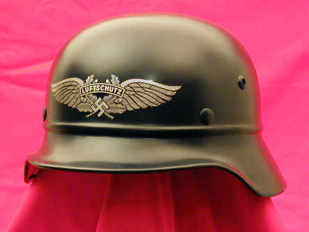 "My hope to one day be able to find and afford a Wehrmacht stahlhelm tickles me pink, but not as much as the thought of owning a Luftschutz stahlhelm. goodGRAVY they're so sleek. The beaded variant of the ""gladiator""-style stahlhelm is my preferred design; always has been.  Oh empty wallet, how you make the militaria-collector in me cry .___."