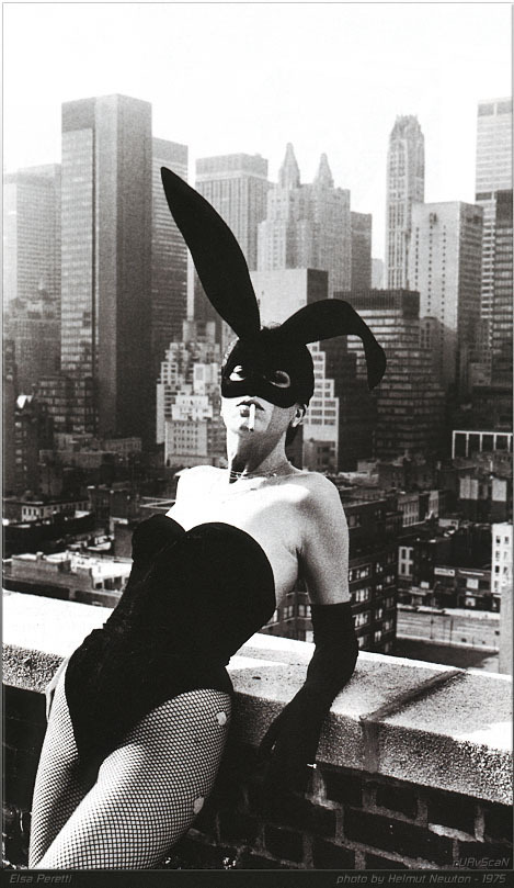 Elsa Peretti photographed by Helmut Newton in 1975