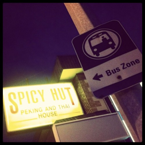 Bus zone spicy hut.  (Taken with instagram)