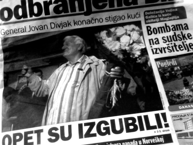 "Jovan Divjak, a Bosnian general during the '92-'95 Bosnian war, came back home after spending nearly five months detained in Austria on Serbia's arrest warrant. Austrian courts denied Serbia's request for extradition stating ""lack of evidence and the inability to guarantee a fair trial"" in Serbia. It was a big day in Sarajevo. For more information about this latest Balkan drama, feel free to read this and this."
