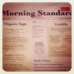 one of our favorite breakfast menus. (Taken with Instagram at The Standard Grill)