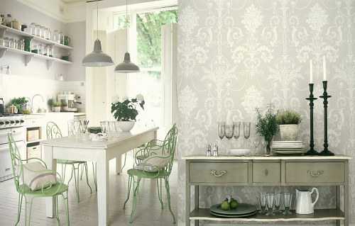 Antique-y white kitchen.