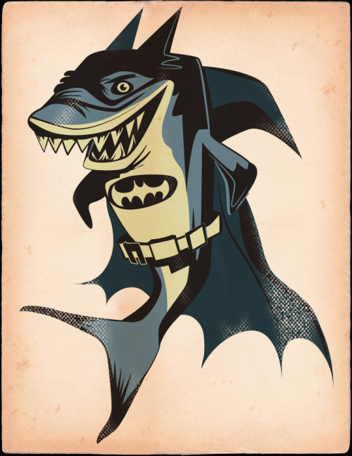 Bat Shark - by Jeff T. Owens Website || Etsy || Tumblr (Via: jtojto)