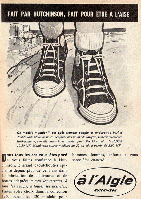 "the 1960s-1960 ad for ""à l'Aigle"" shoes by april-mo on Flickr."