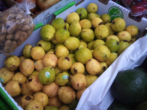 guava fruit being sold in los angeles chinatown