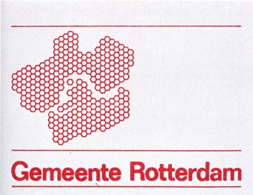 Wim Crouwel's Rotterdam hexagon urban identity as seen at Kosmograd (via)