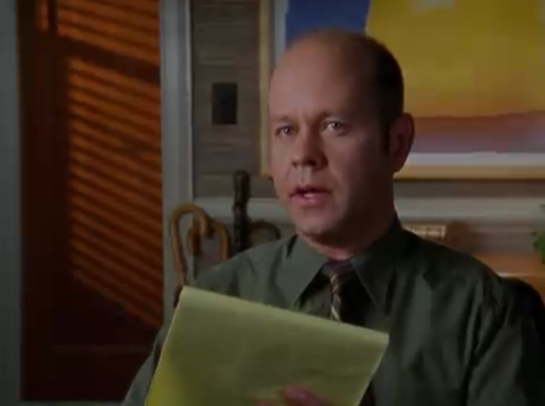Gunther from Friends would have made a terrible couples therapist, so congrats to James Michael Tyler on not being typecast! Here he is as Turk and Carla's marriage counselor in an episode of Scrubs.