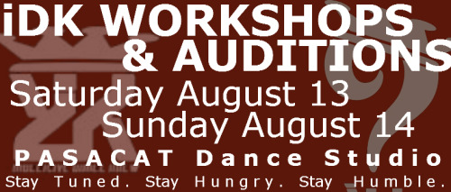 indecisive Dance Krew workshops and auditions.  August 13August 14  Mark your calenders and stay tuned.