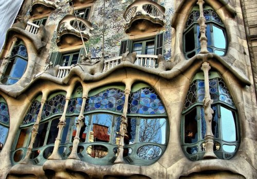 Antoni Gaudi's work in Barcelona. It's far more amazing in person.