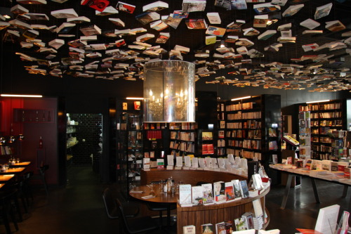 "So this is what being ""surrounded by books"" looks like. prettybooks:  (by brusselspictures)"