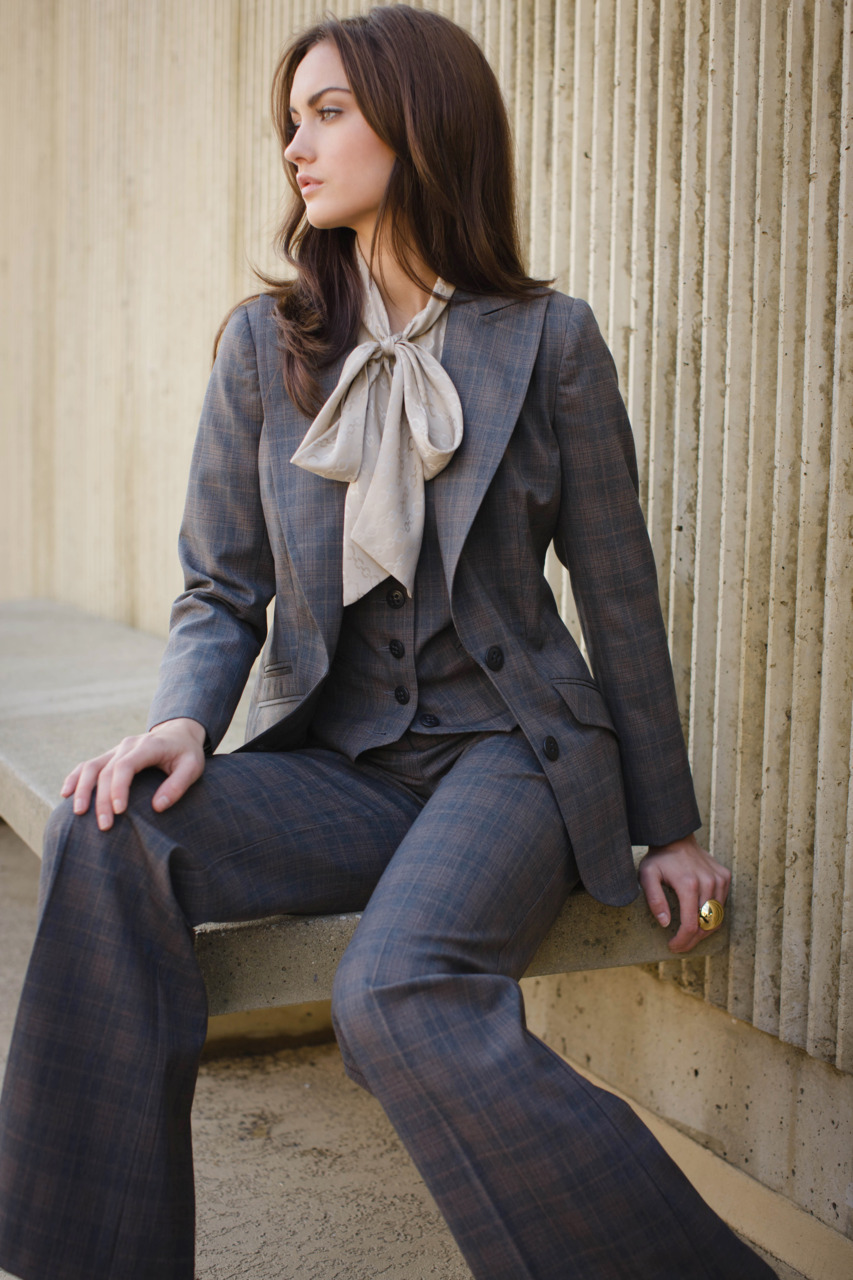 Trina's Fall II three piece suit in plaid suiting…perfect for both work and play!