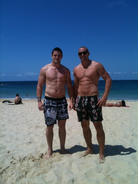 Luke Burgess (left), Chris Feather (right)