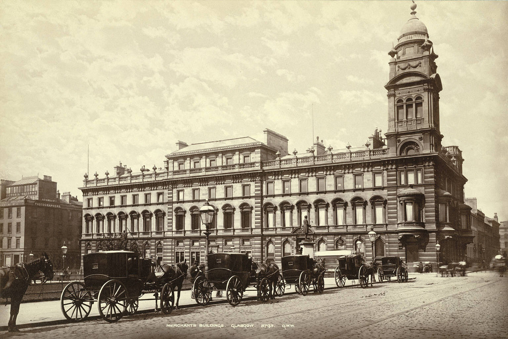 The Merchants House in 1885, Glasgow