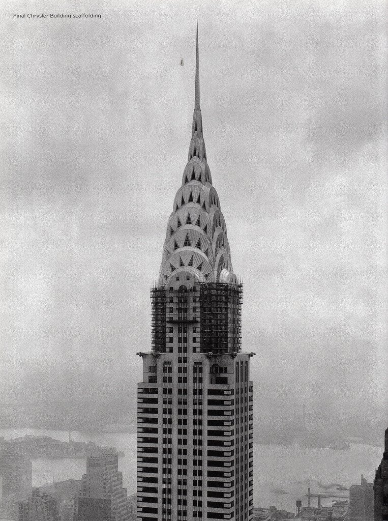 archimaps:  The Chrysler Building before end of construction in 1930, New York.