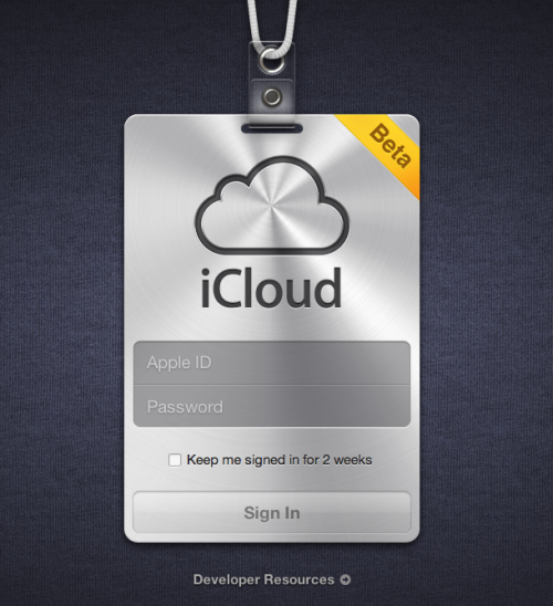 Not only does Apple have a web component of iCloud, it looks slick as fuck.