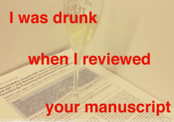 I was drunk when I reviewed your manuscript.