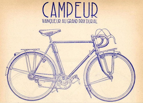 cyclocult:  Singer Campeur by spoke sniffer on Flickr.