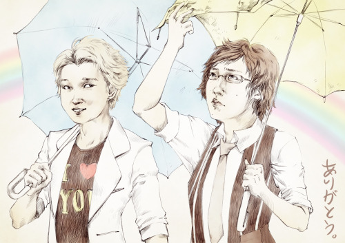 My Arashi-fan anniversary day - I had to do some fanart… finally.