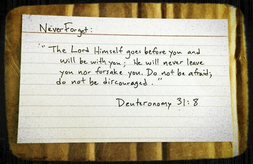 spiritualinspiration:  www.getoutthebox.org  I just read this verse the other day. Amazingness. Especially when you feel like He has abandoned you. Yet, He always finds a way to remind you that He will never leave you! I love it. God is so good.