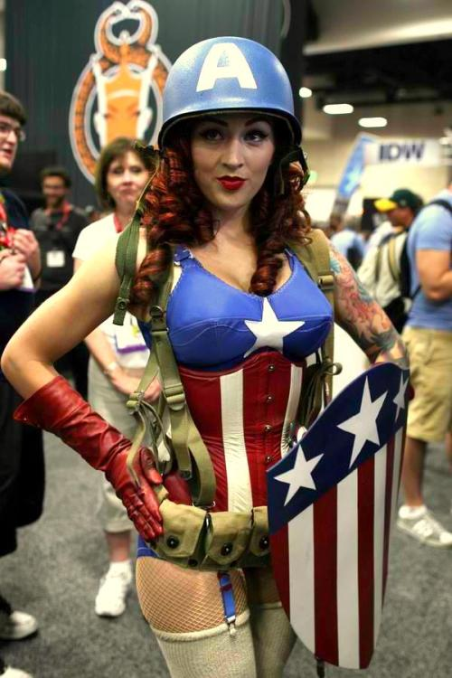 Female Captain America Submitted by poison-x-ivy