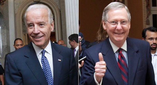 "Biden, McConnell and the making of a deal He had given away his demand for a clean increase in the debt limit. He had given up on tax hikes on the rich and closing corporate loopholes. He had even given away billions in cuts to domestic programs close to his heart. But by 4 p.m. Sunday — two days before the country would plunge into default — President Barack Obama drew the line against congressional Republicans who wanted assurances that defense spending would be cut less than many other programs. ""We just can't give there,"" Vice President Joe Biden, Obama's chief emissary to the Hill in the budget negotiations, pointedly told House Speaker John Boehner (R-Ohio). With that, a grim Obama contemplated the unthinkable: pulling the plug on a deal and precipitating a global economic crisis. Huddled in the Oval Office, the president and his top aides proceeded to discuss how Treasury Secretary Tim Geithner might step out later that night and prepare the country for the inevitable market crash. Then, almost as abruptly, the compromise started coming together. What happened during a weekend of frenzied negotiations to salvage the deal is a tale of cataclysm narrowly averted, a historic debt-reduction plan that satisfies none of its signatories and a lesson on how even the most dysfunctional political system can be made functional through the injection of fear, finesse and Joe Biden's old friendships. Continue reading… Politico"