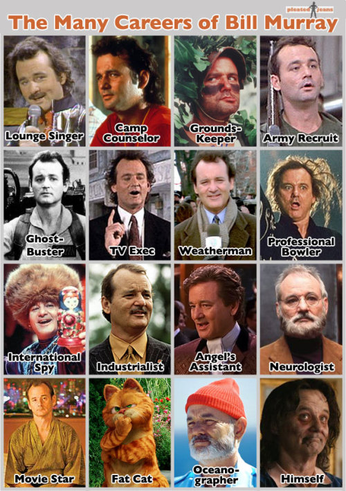 shotgunsunday:  The illustrious career of Bill Murray.