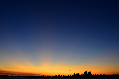 Sunset at the Spit (Tommy Thompson Park) Photographic Style: (Night Photography) Long Exposure Landscape Date Taken: 01/08/2011 9:04 PM Camera Model: Nikon D7000 F-Stop: f8 Exposure Time: 1/6 sec ISO Speed: ISO 100 Focal Length: 18mm Lens: AF-S DX NIKKOR 18-55mm f/3.5-5.6G VR