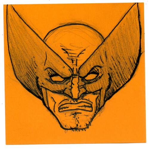 Post-it Wolverine I have been busy for some time now and I havent had enough time to post quality things on my tumblr. So instead I'm gonna post my small sketches I do on Post-It notes at work. Enjoy and thanks to all of you who have been reblogging and liking my work during my hiatus.