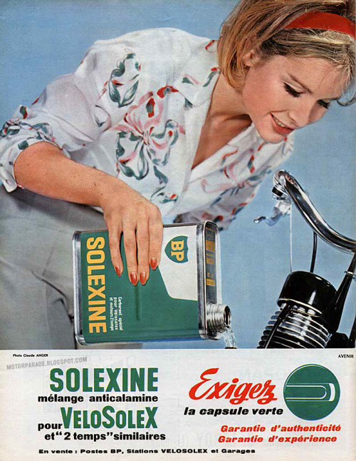 mudwerks:  (via MotorParade: WITH PASSION) Solexine Solex gas, France, 1965