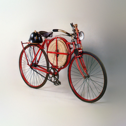 bicyclestore:  Fireman's Bicycle_BSA_1905_02 Bicycle lent by the Galbiati Museum in Burgherio, Italy  Workhorse.