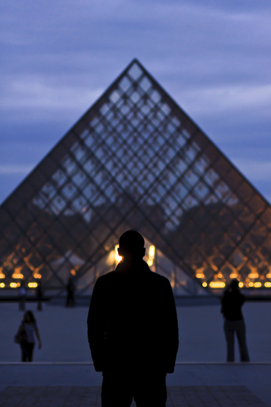 He stood there alone, facing the pyramid…