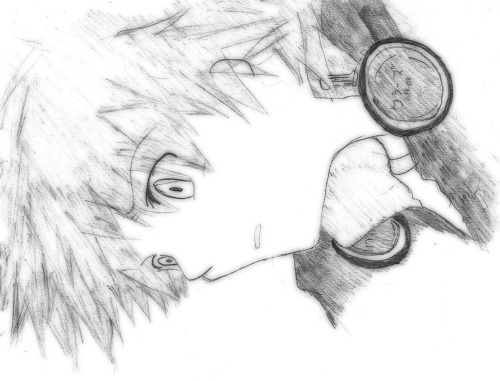 old 2009 drawing. Yosuke from Persona 4. I didn't even remember why did I draw this…