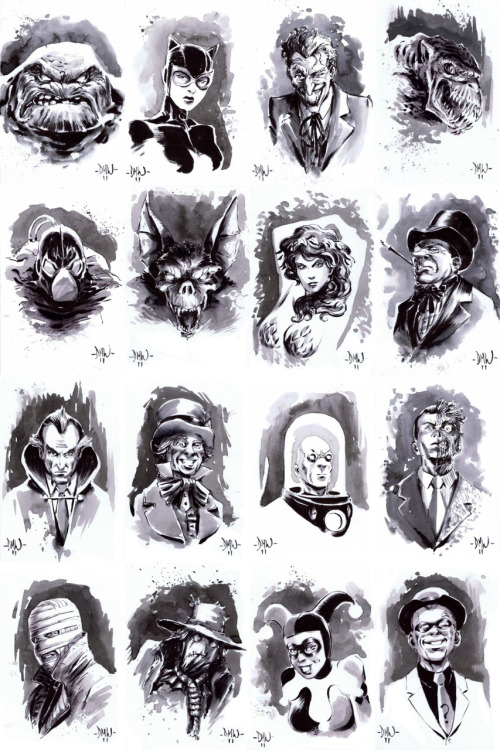 commanderspock:  all-about-villains  Batvillains, Round 2 : By Dave Wachter / Twitter
