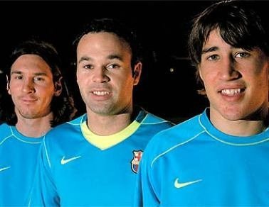 everything-bojan:  Bojan, Iniesta & Messi.